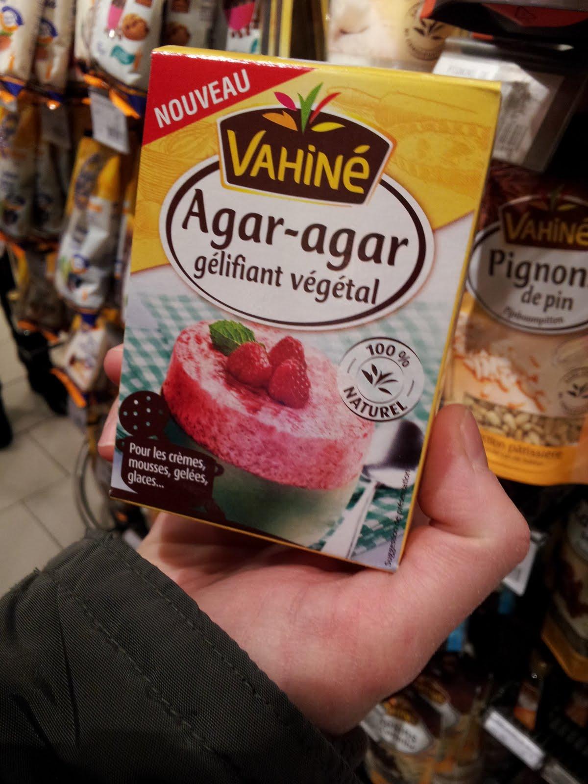 De l'agar-agar en supermarché, herboristerie, pharmacie