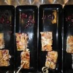 Des bouchées de tortillas à la cranberry. C'est bon !