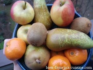 Pomme, poire, clémentine, kiwi... en voilà des fruits d'hiver !
