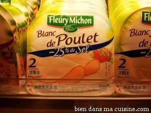 blanc poulet moins sel