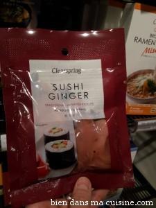 gingembre à sushi