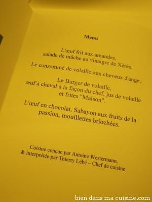 Un menu 100% oeuf & volaille