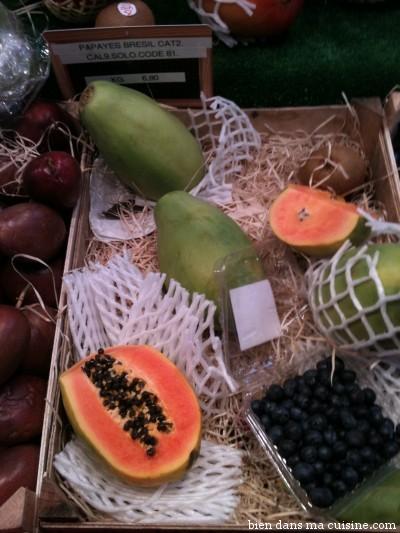 Des papayes. Relativement classiques mais tellement douces et antidotes à la morosité météo.