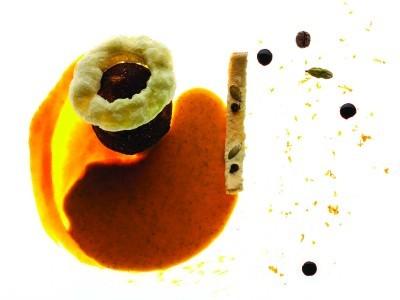 Nespresso - Oeuf mollet Arpeggio, cappuccino de butternuts, café cardamome - Edouard Loubet