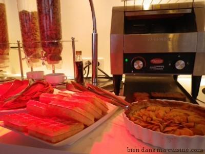 buffet gaufres tarte