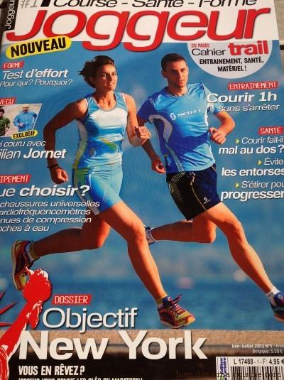La couverture du n°1 de Joggeur (juin-juillet 2013).