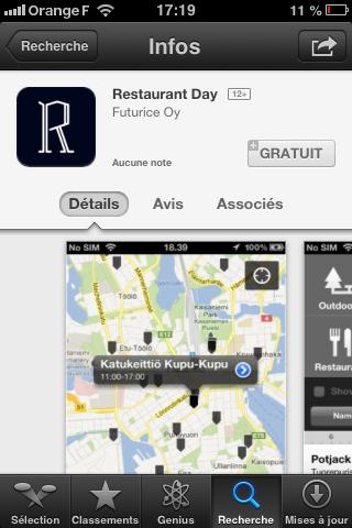 L'appli Restaurant Day. Comme ça, tous vos clients sauront où vous trouver !