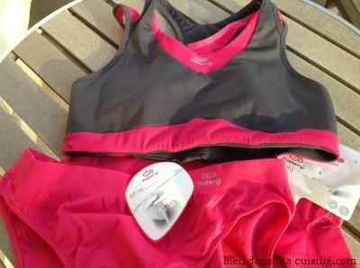 Brassière et slip spécial running, anti-transpirant.