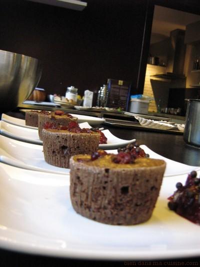 dessert fondant au chocolat cranberry1