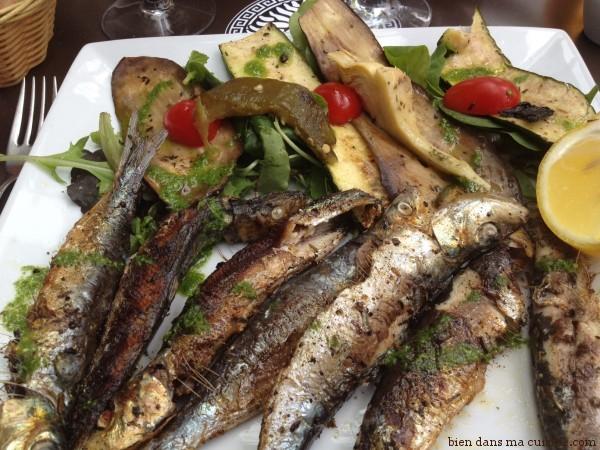 Sardines fra ches et l gumes l g rement grill s le plat - Cuisiner la seiche fraiche ...