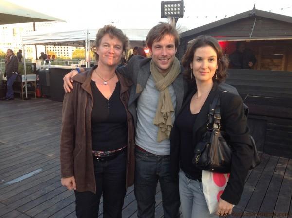 Avec Grégory Cuilleron, super sympa et drôlement souriant (ça change !).