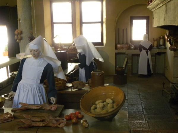 Les infirmières cuisinent aux hospices de Beaune. Soins et assiette du patient ont toujours (et devraient toujours aujourd'hui!) être étroitement liés !