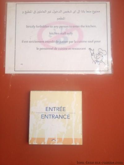 Pour des raisons de sécurité évidentes, il est normalement interdit à quiconque hors staff de pénétrer dans les cuisines.