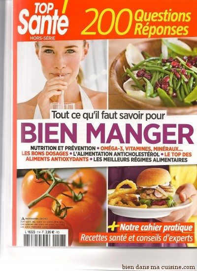 Couverture du Hors-Série spécial Nutrition de Top Santé.