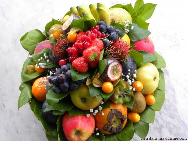 100% fruits pour ceux qui trouvent que les poireaux ne sont pas assez photogéniques...