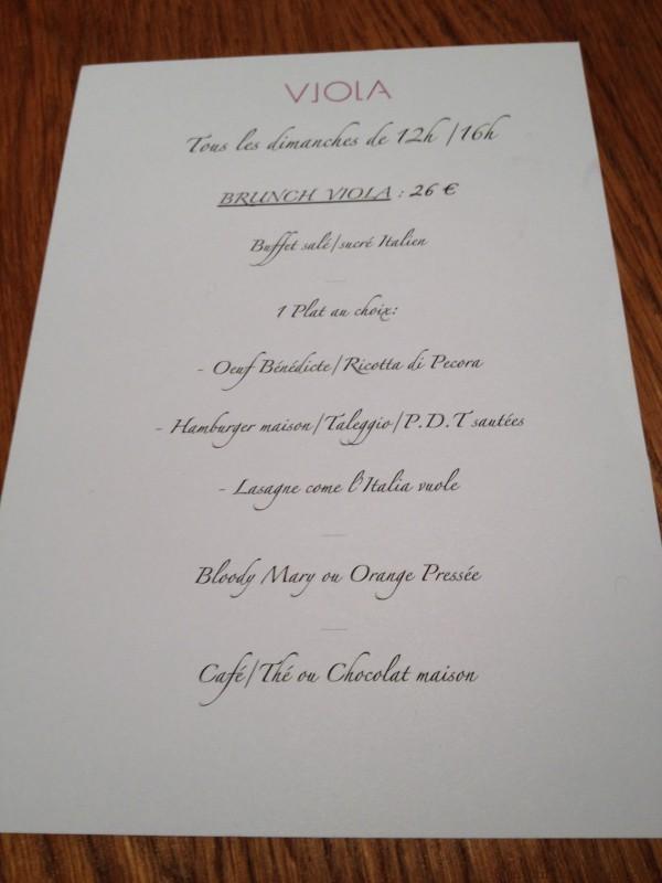 menu brunch