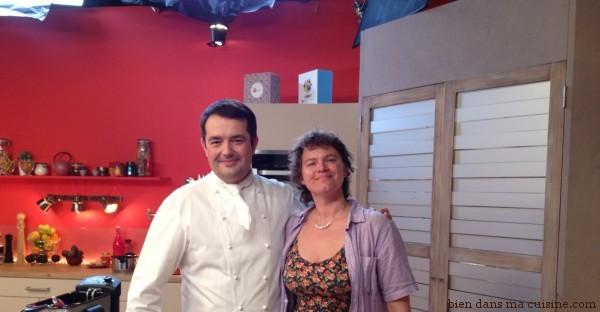 Bien dans ma cuisine avec le chef Jean-François Piège, sur le plateau de tournage d'Impro en cuisine.