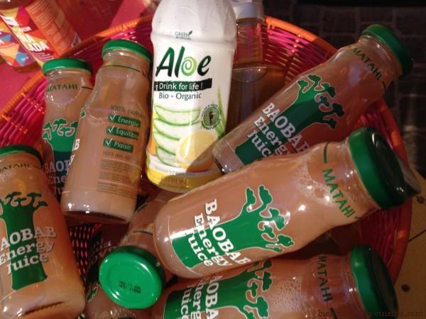 boissons à l'aloé et au baobab