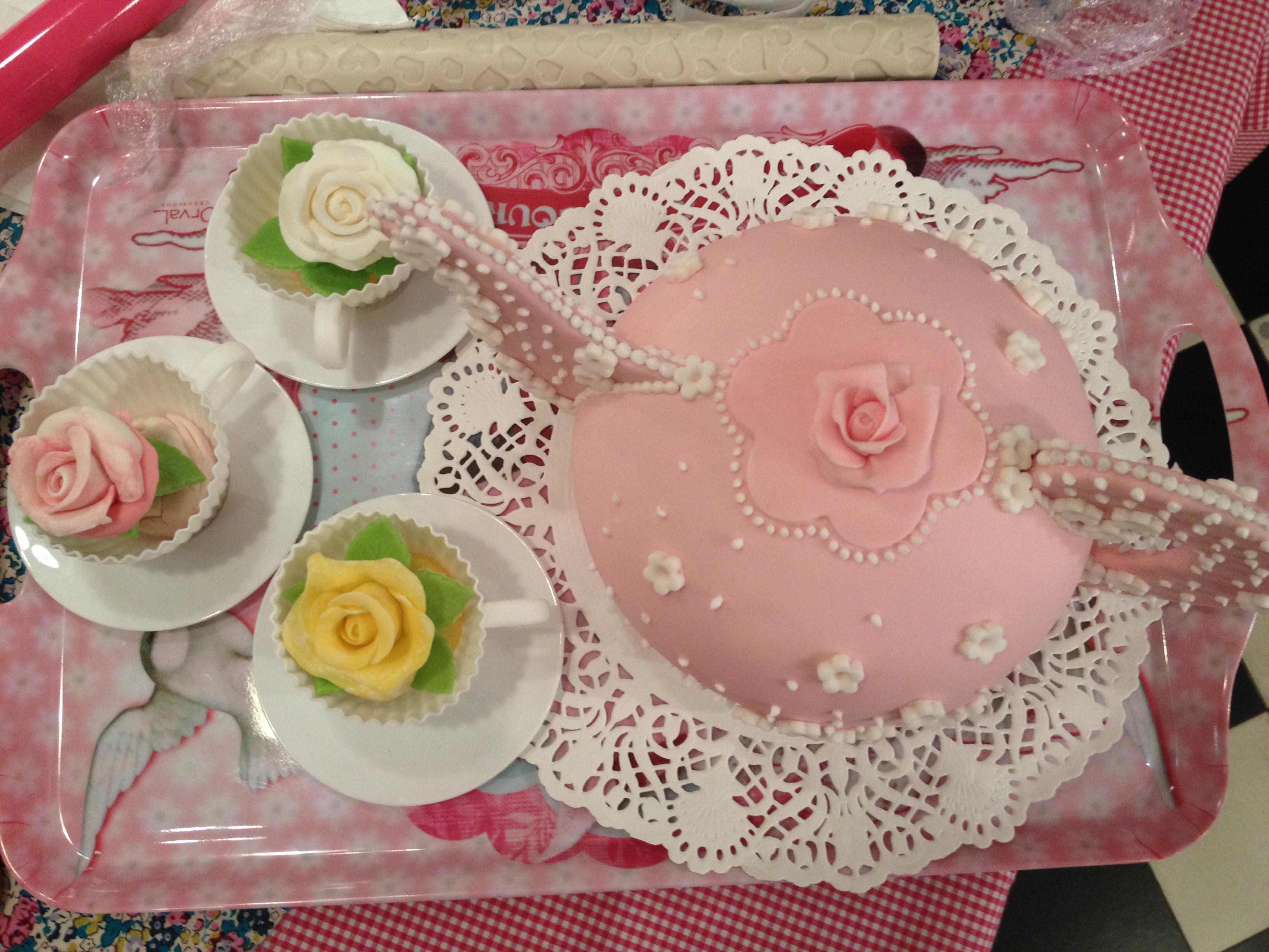Atelier cake design   la rose Bien dans ma cuisine