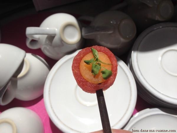 brochette melon pastèque