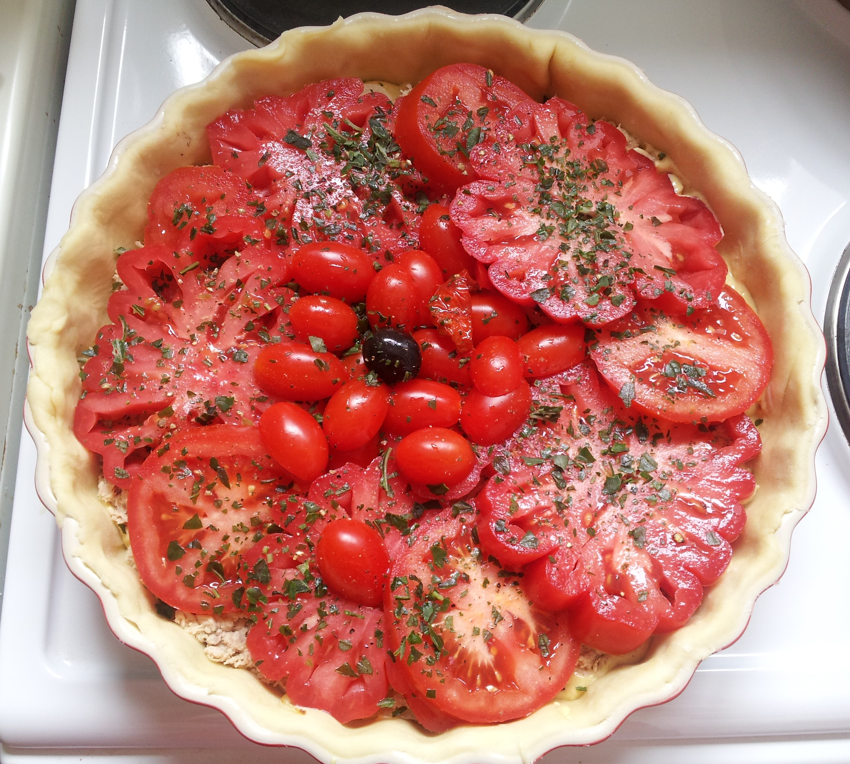 Tarte au thon et aux trois tomates bien dans ma cuisine - Cuisiner le coeur de boeuf ...