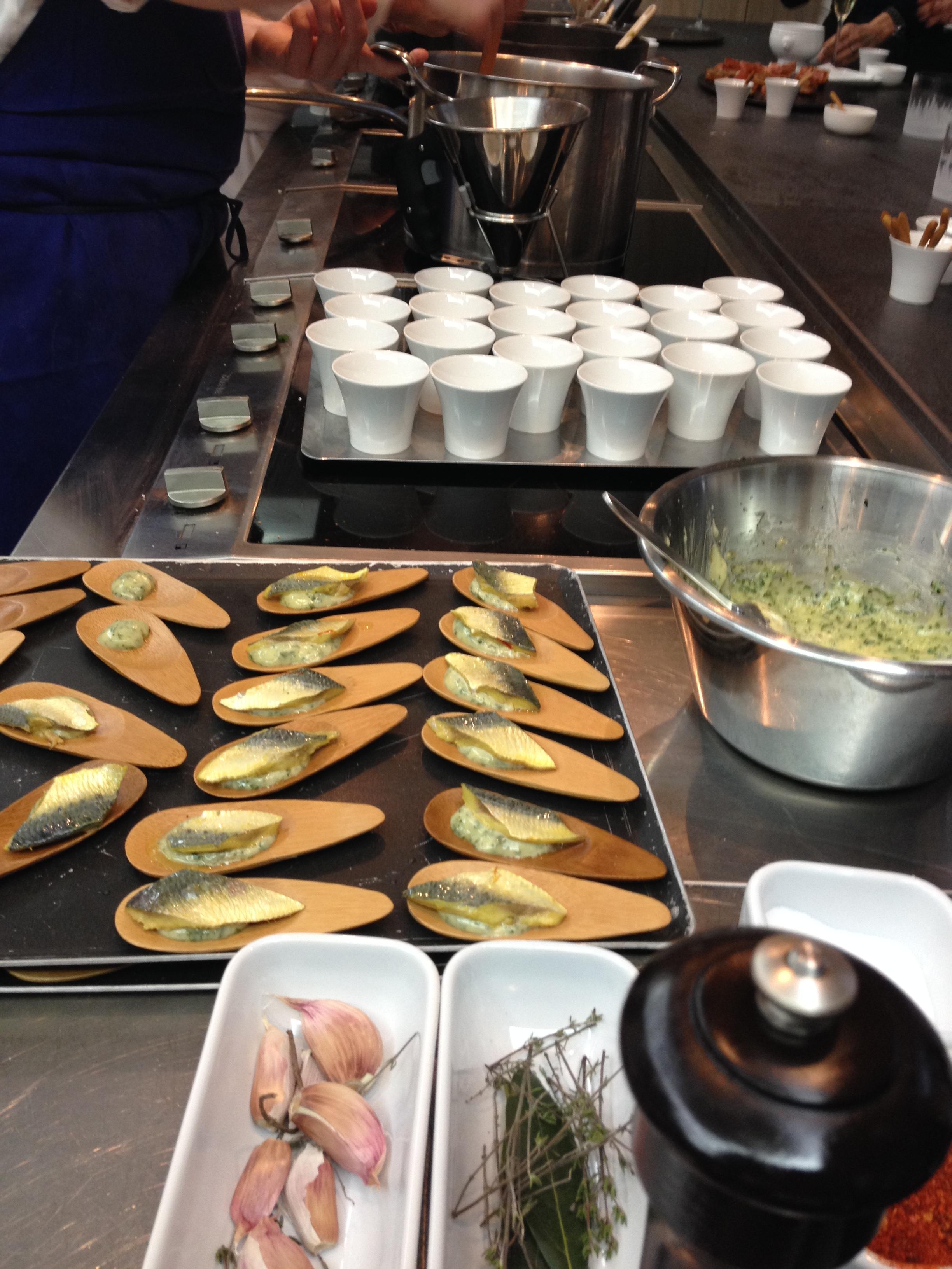 La recette de l escab che de sardine par l cole de for Alain ducasse ecole de cuisine