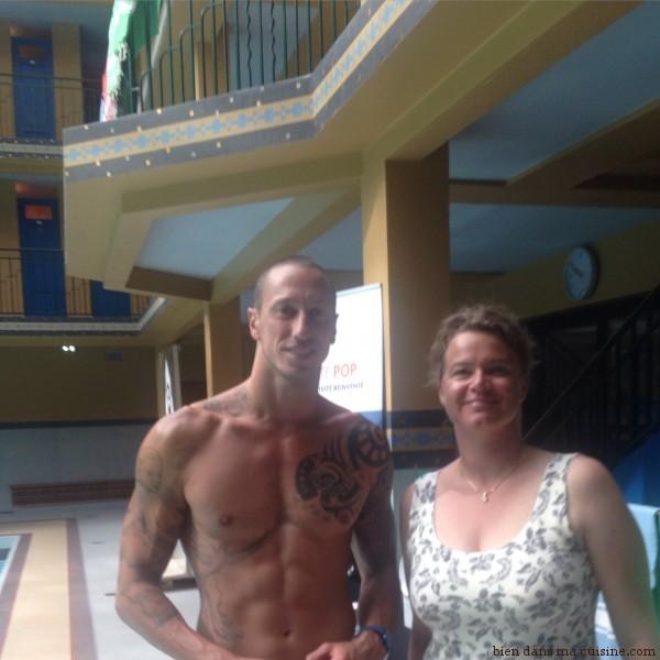 Superbe nageur, Frédéric est aussi très pédagogue et transmet avec simplicité et large sourire des conseils techniques, des suggestions. Un bonheur !
