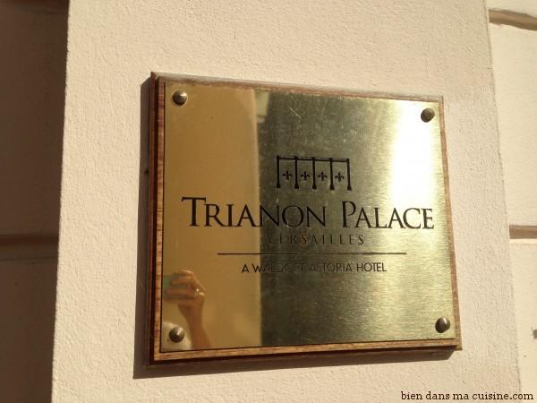 L'entrée du Trianon Palace à Versailles.
